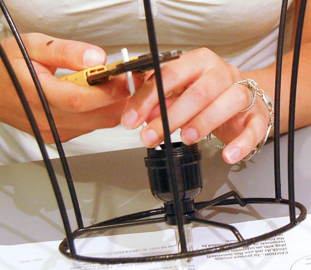 stripping cord - light DIY