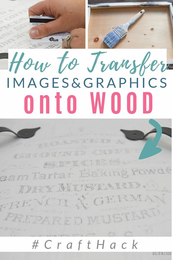 Transferring images onto wood using wax paper! A full tutorial for how to make a DIY serving tray with a custom graphic transfer; plus how to put wax paper in your printer. #graphics #diypassion #waxpaper