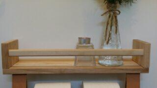 BEKVAM Spice rack turned toilet paper roll holder