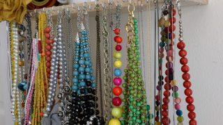 Spice rack turned necklace holder