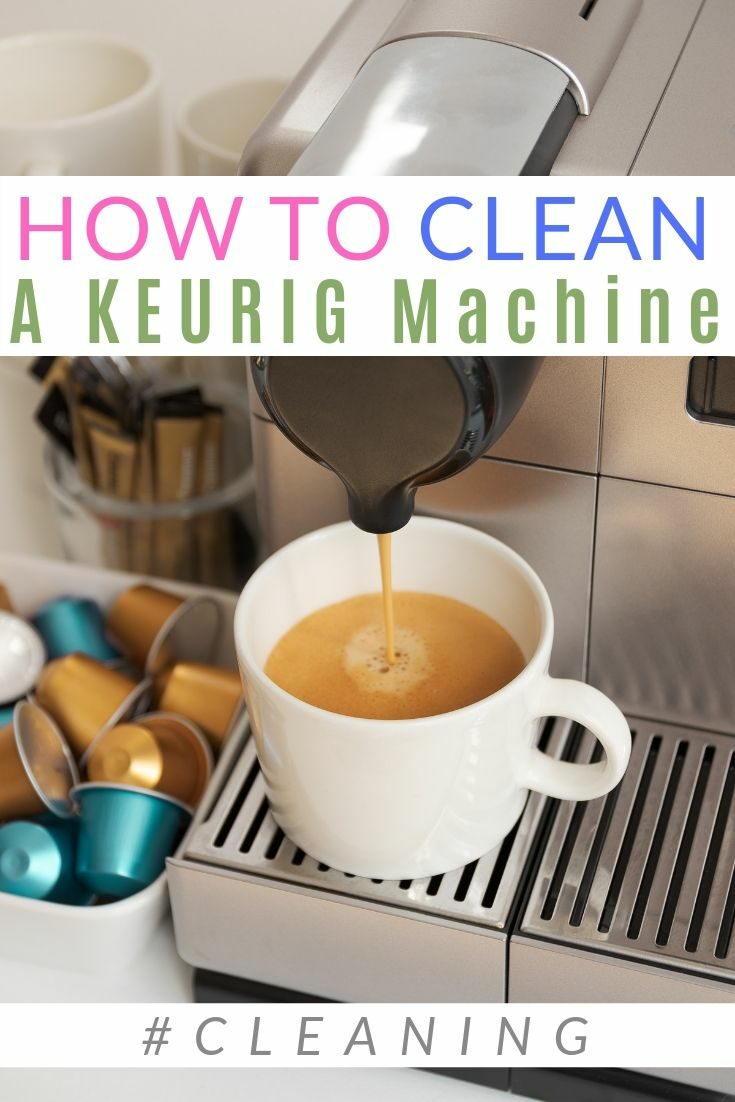 Clean your Keurig Coffee maker every 3 to 6 months with these simple cleaning tips! #coffee #cleaning #diypassion