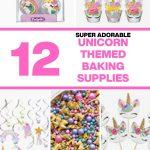 list of unicorn baking supplies