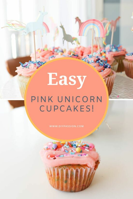 pink-icing-unicorn-cupcakes