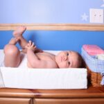 Baby Boy On Diaper Changing Pad cover