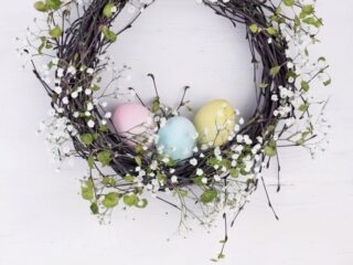 spring swag wreath