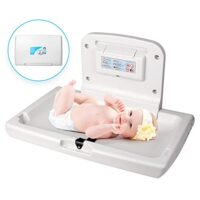 WilBee Wall-Mounted Baby Changing Station, Horizontal Fold-Down Diaper Change Table with Safety Straps Paper Liner Dispenser image attachment (large)