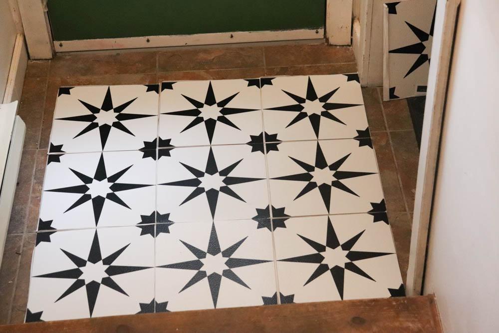 install peel and stick flooring